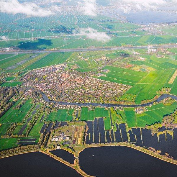 topview of dutch landscape