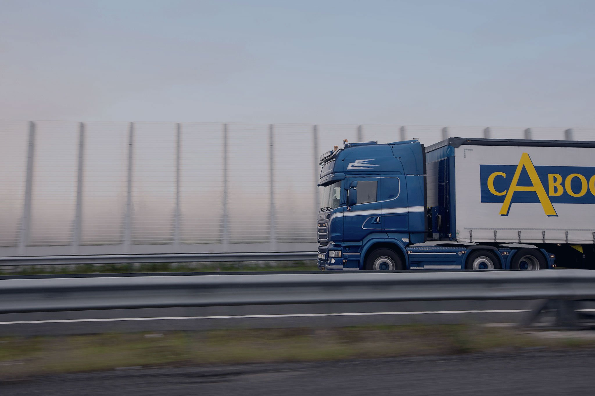 cabooter truck on the road