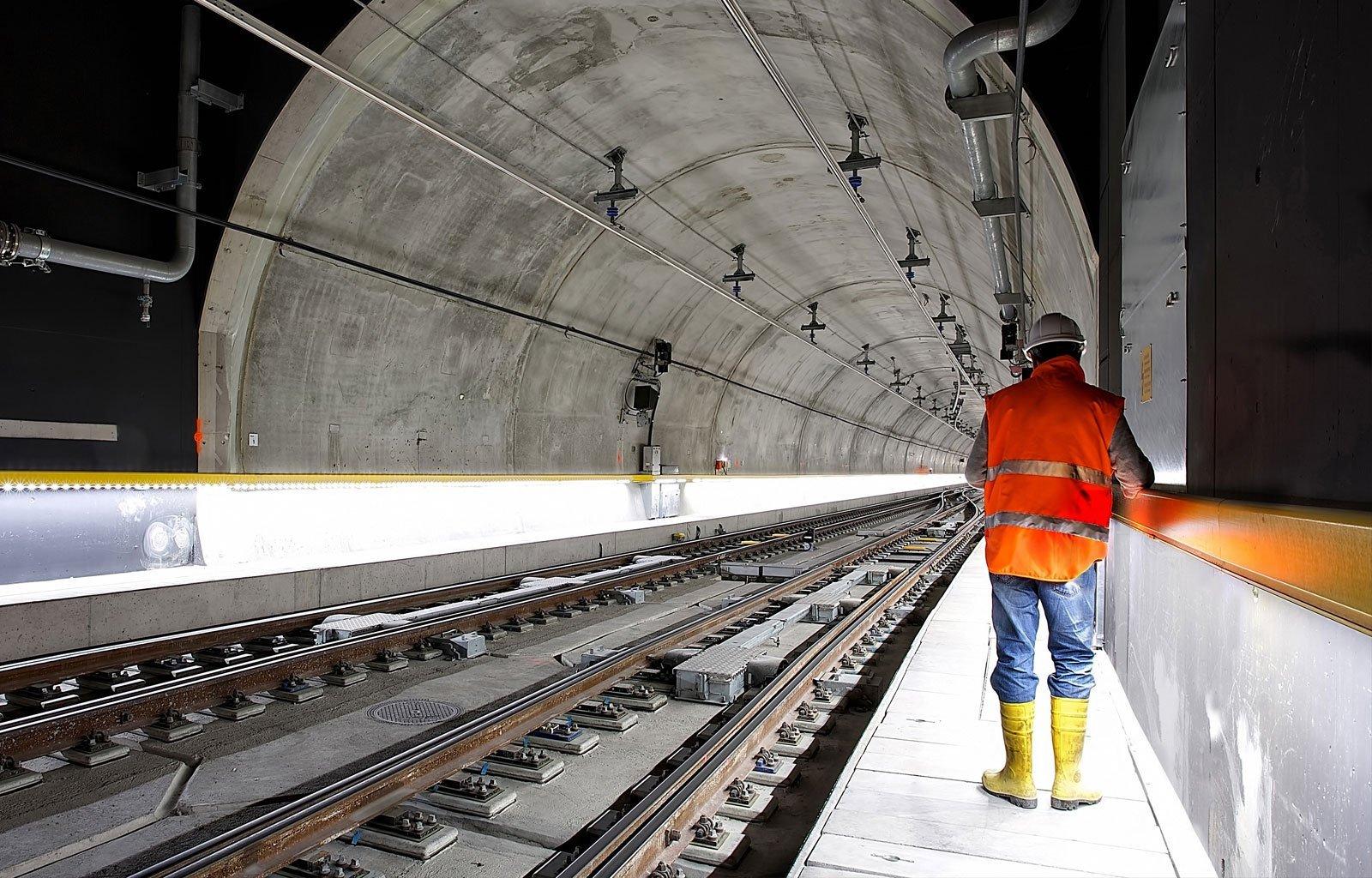 man in railtunnel