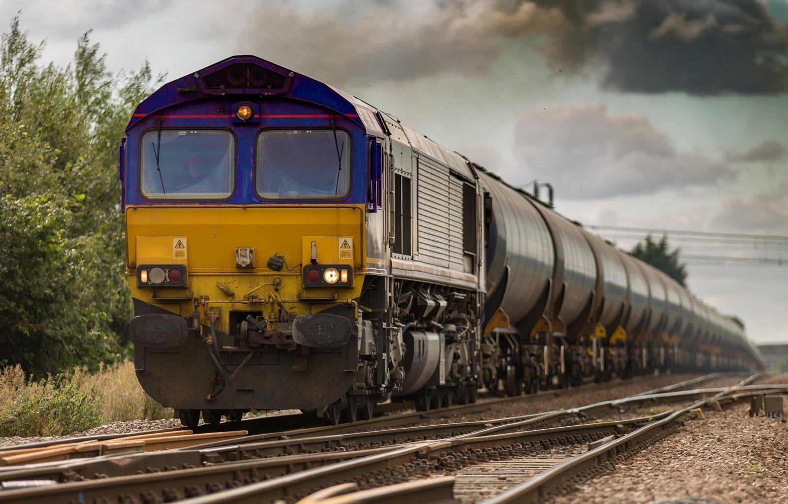 long trainsport freight train